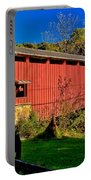 White Rock Forge Covered Bridge Portable Battery Charger