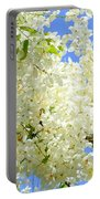 White Shower Tree Portable Battery Charger