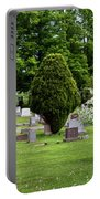 White Tree In Cemetery Portable Battery Charger