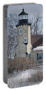 Whitehall Lighthouse In Winter Portable Battery Charger