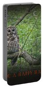 Whoooo Wishes  You A Happy Halloween - Greeting Card - Owl Portable Battery Charger