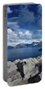 Wide View Of Crater Lake Portable Battery Charger