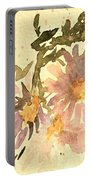 Wild Asters Aged Look Portable Battery Charger