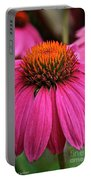 Wild Berry Purple Cone Flower Portable Battery Charger