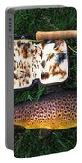 Wild Brown Trout And Fishing Rod Portable Battery Charger
