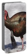 Wild Turkey In The Snow Portable Battery Charger