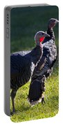 Wild Turkeys Portable Battery Charger by Mike  Dawson