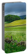 Wildflower Meadow Near Hawes Portable Battery Charger