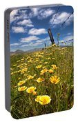 Wildflowers And Barbed Wire Portable Battery Charger