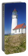 Wildflowers And Cape Blanco Lighthouse Portable Battery Charger