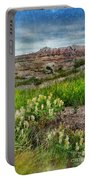 Wildflowers In Badlands Portable Battery Charger