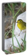 Wilsons Warbler By The Stream Portable Battery Charger