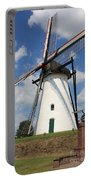 Windmill And Blue Sky Portable Battery Charger