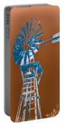 Windmill Blue Portable Battery Charger