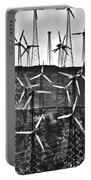Windmills By Tehachapi  Portable Battery Charger by Susanne Van Hulst