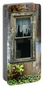 Window In Old Wall Portable Battery Charger by Jill Battaglia