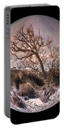 Windswept At Driftwood Beach II Portable Battery Charger by Debra and Dave Vanderlaan