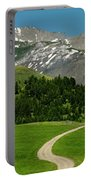 Windy Road To The Crazy Mountains Portable Battery Charger