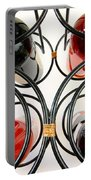 Wine Bottles In Curved Wine Rack Portable Battery Charger