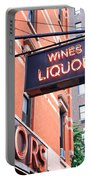 Wines And Spirits Sign Portable Battery Charger