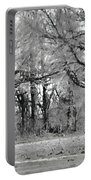 Winter At The Edge Of The Woods Portable Battery Charger