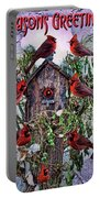 Winter Birdhouse Portable Battery Charger