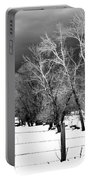 Winter Cottonwoods Portable Battery Charger