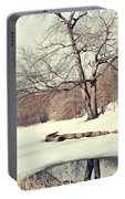 Winter Day In The Park Portable Battery Charger