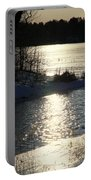 Winter Dusk Portable Battery Charger
