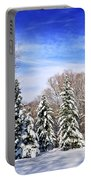 Winter Forest With Snow Portable Battery Charger