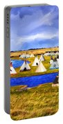 Winter Gathering Place Portable Battery Charger