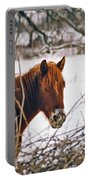Winter Horse Landscape Portable Battery Charger