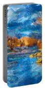 Winter In Salida -- Renoir Portable Battery Charger