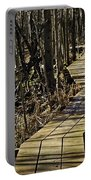 Winter On Miller Pond Board Walk Portable Battery Charger