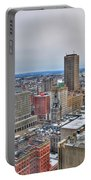 Winter Scene Downtown Buffalo Portable Battery Charger