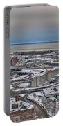 Winter Scene Land And Water Portable Battery Charger