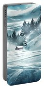 Winter Seclusion Portable Battery Charger by Lourry Legarde