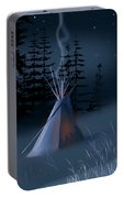 Winter Teepee Portable Battery Charger