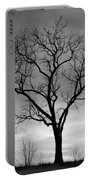 Winter Tree Silhouette Portable Battery Charger