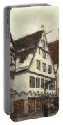 Winterly Old Town Portable Battery Charger by Jutta Maria Pusl