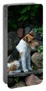 Wirehair Fox Terrier Portable Battery Charger