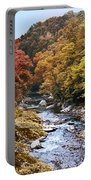 Wissahickon Creek In Fall Portable Battery Charger
