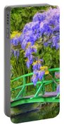 Wisteria And Japanese Bridge Portable Battery Charger