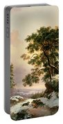 Wolves In A Winter Landscape Portable Battery Charger