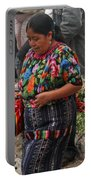 Woman In Traditional Guatemalan Dress Portable Battery Charger