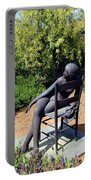 Woman On A Chair Portable Battery Charger