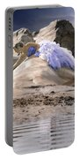 Woman On A Rock Portable Battery Charger