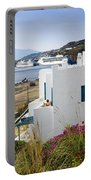 Woman On The Terrace - Mykonos Portable Battery Charger