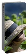 Woman With Straw Hat Portable Battery Charger