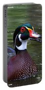 Wood Duck Portrait Portable Battery Charger